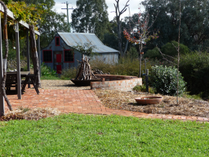Using mulch to help give the garden a complete and tidy look.